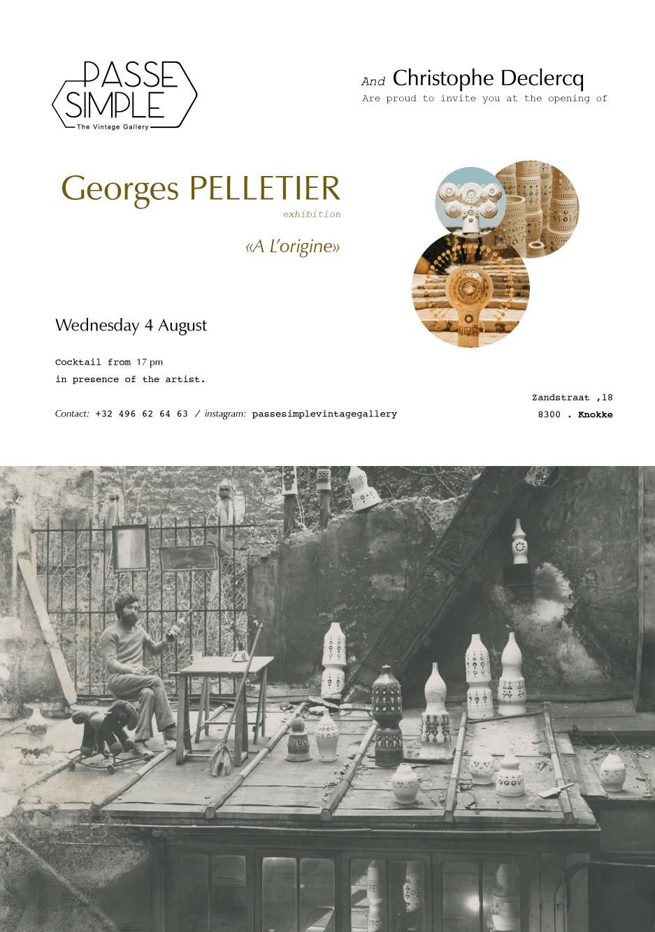 Invitation Exposition de Georges Pelletier à Knooke A L'origine
