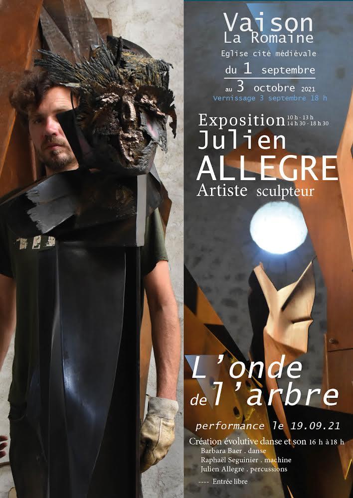 L'Onde de l'Arbre, sculpture sonore de Julien Allegre à Vaison la Romaine
