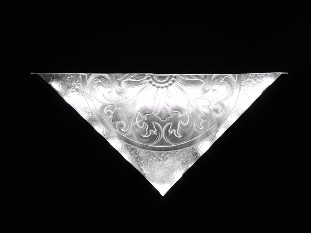 Applique murale Manhattan- cristal et acier.