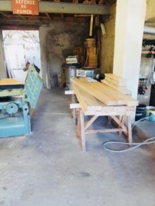 Fabrication chêne massif mobilier