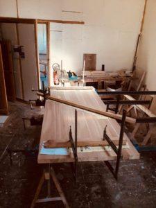 Fabrication chêne massif mobilier d'art Antoine JOURDAN