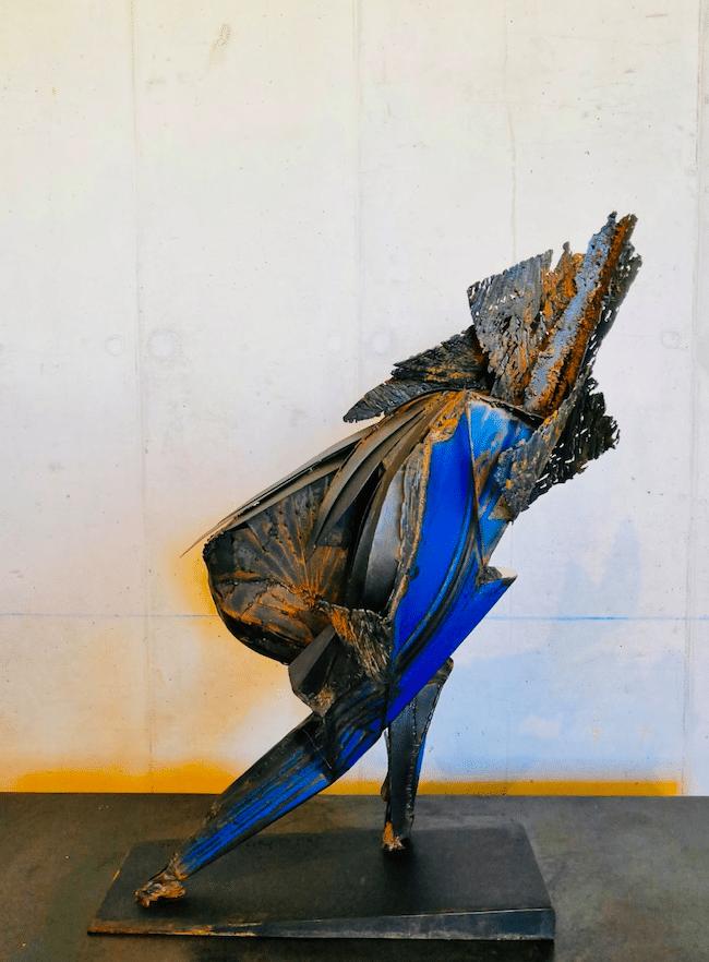 Infinité - Sculpture acier et inox de Julien Allegre