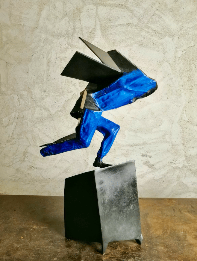 Sculpture Bronze de Julien Allegre - vue de profil