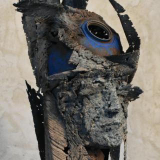 Sculpture de Julien Allegre - Cyclades - Face