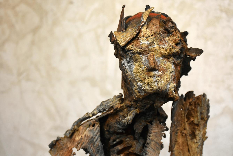 Sculpture de Julien Allegre - L'Attente - vue de face
