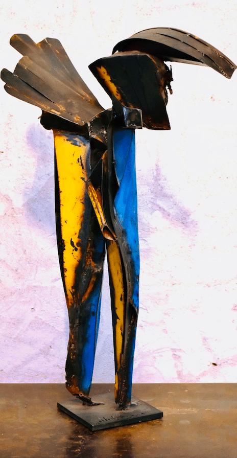 Sculpture de Julien Allegre - Nomade - vue arrière