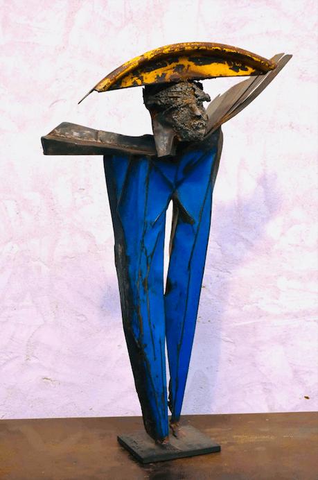 Sculpture de Julien Allegre - Nomade - vue de face
