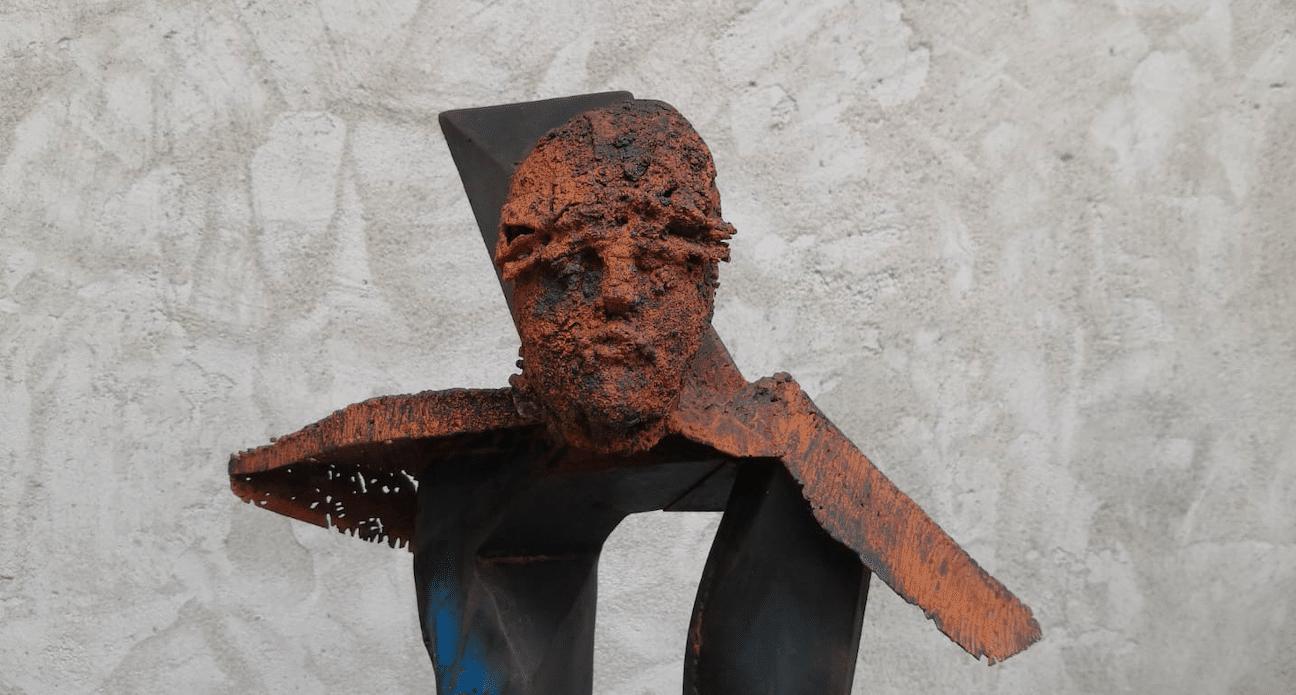 Sculpture en acier de Julien Allegre