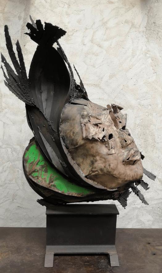 Sculpture pièce unique en acier de Julien Allegre