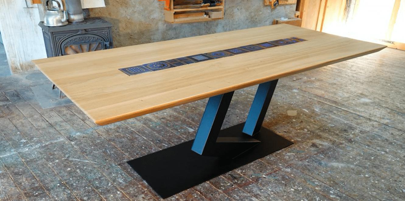 Table En Chene Brut.Fabrication D Un Plateau En Chene Massif 4 Etapes Simples