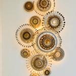 Ensemble d'appliques murales - céramique Georges Pelletier