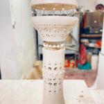 Lampe sculpture R2D2 by Georges Pelletier