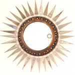Miroir Sun Georges Pelletier céramique