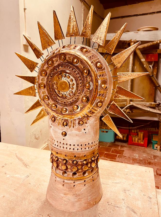Petite Lampe Soleil de l'artiste céramiste Georges Pelletier