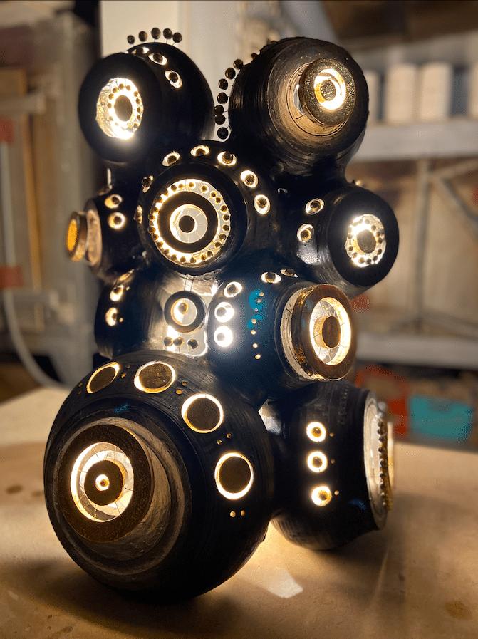 Sculpture, luminaire de Georges Pelletier