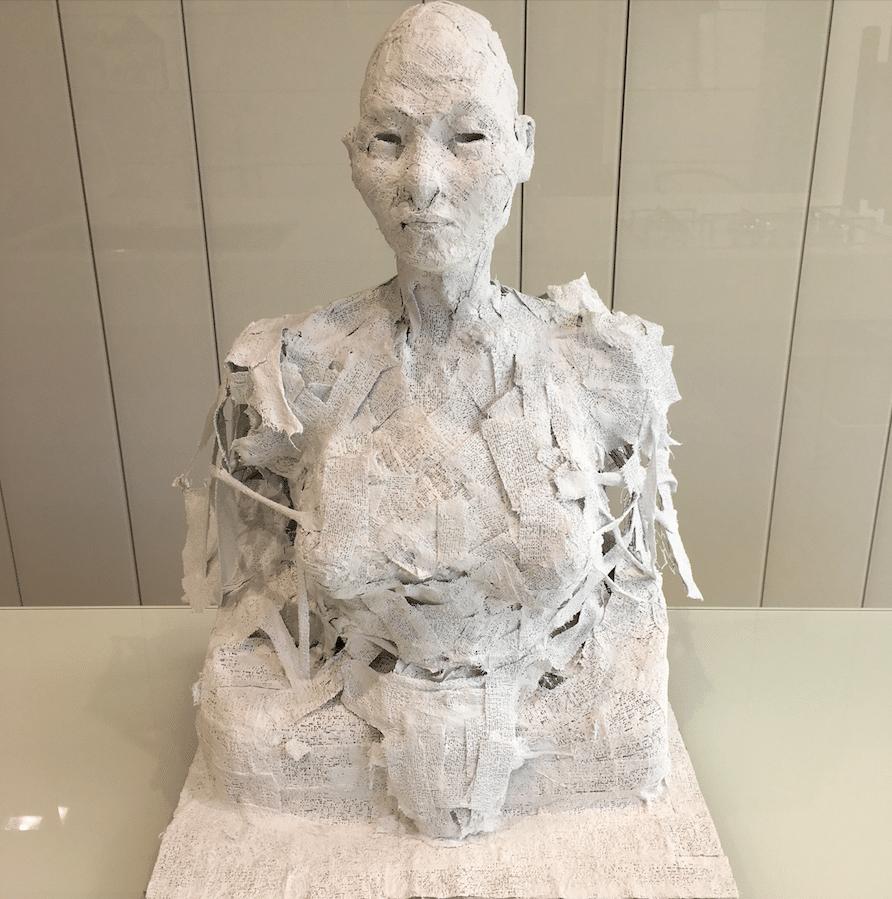 Sculpture Ariel Barsamian Buste en plâtre