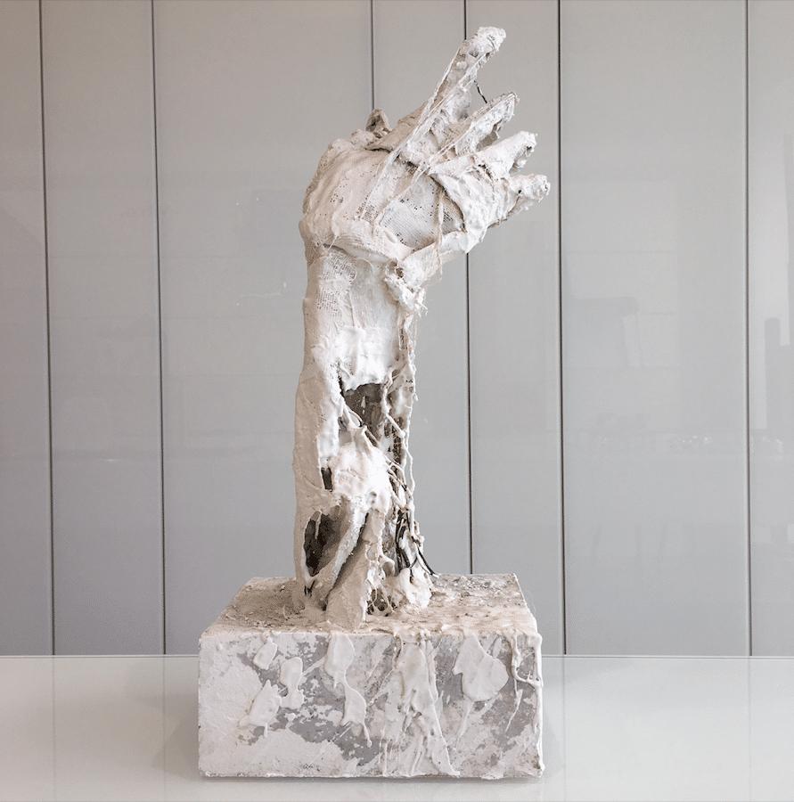 Sculpture Ariel Barsamian en plâtre