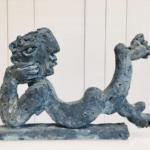 sculpture personnage en bronze by Ariel Barsamian