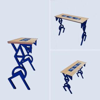 Console Ceramica bleu