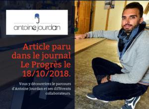 Parution dans le Progrès Antoine Jourdan Designer