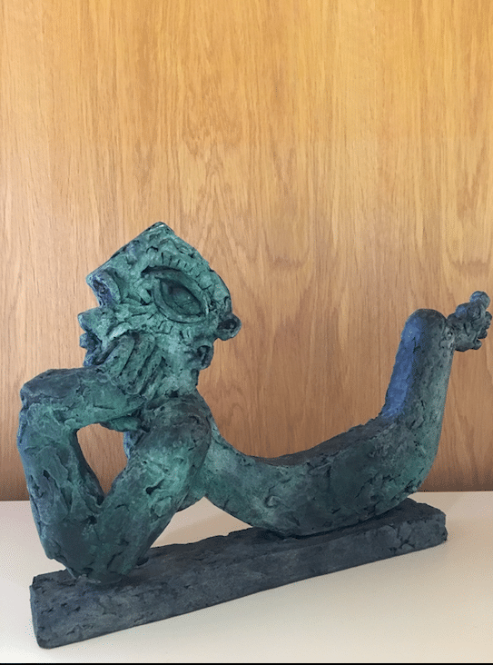 Sculpture bronze personnage by Ariel Barsamian