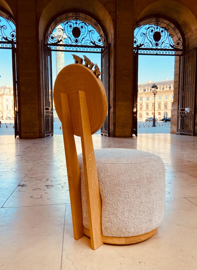 Fauteuil Haute Couture Place Vendôme - profil