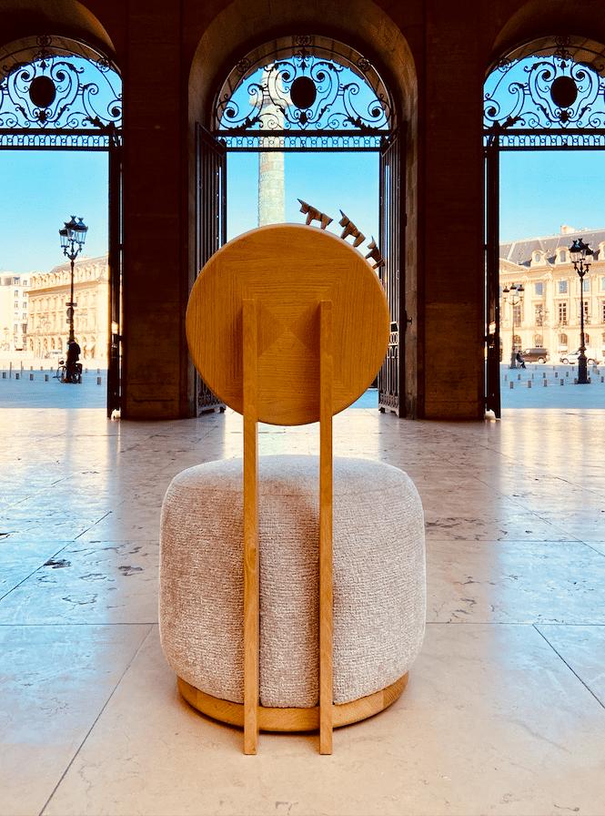 Fauteuil Haute Couture Place Vendôme - vue arrière