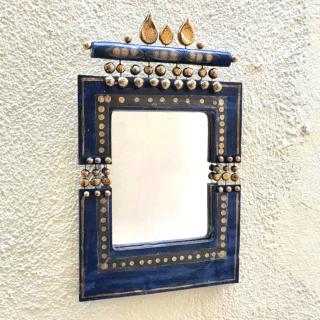 Miroir Bleu et or Georges Pelletier