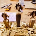 Fabrication des sculptures en bronze dans les ateliers de la Maison Tournaire