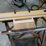Fabrication du guéridon Haute Couture en bois massif