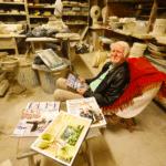 Article sur le travail du céramiste Georges Pelletier paru dans le Nice Matin le 02-11-2019