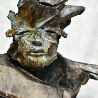 Sculpture en bronze de Julien Allegre - Man Go - Pièce soclée