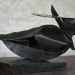Equinoxe sculpture bronze de Julien Allegre - dos