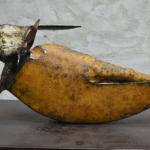 Equinoxe sculpture bronze de Julien Allegre - face