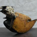 Equinoxe sculpture bronze de Julien Allegre - profil