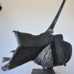 Sculpture bronze de Julien Allegre - Femme et la mer - dos