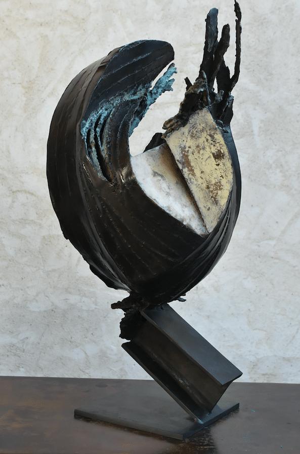 Sculpture de Julien Allegre - Eclipse- dos