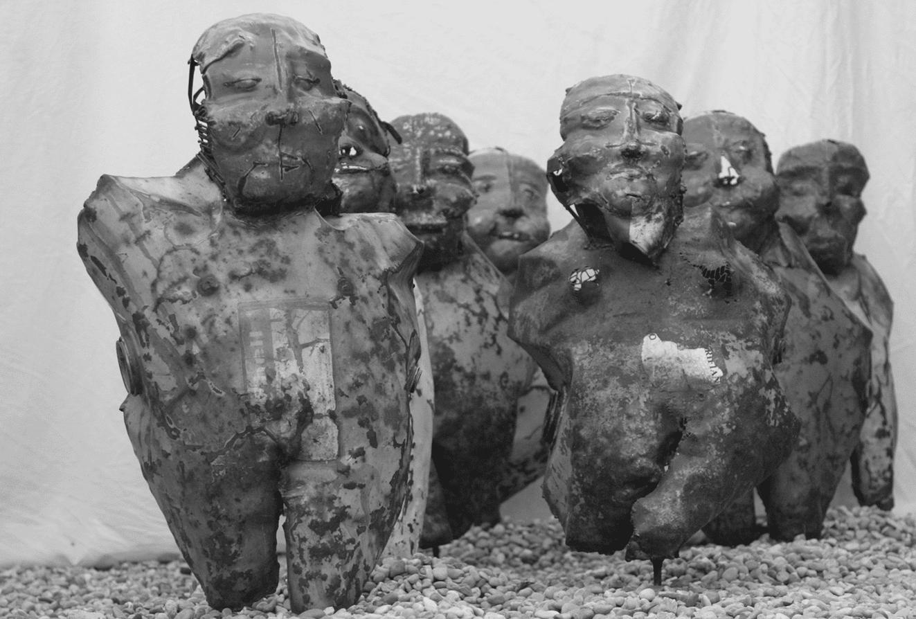 Sculpture de Julien Allegre - Les Chinois