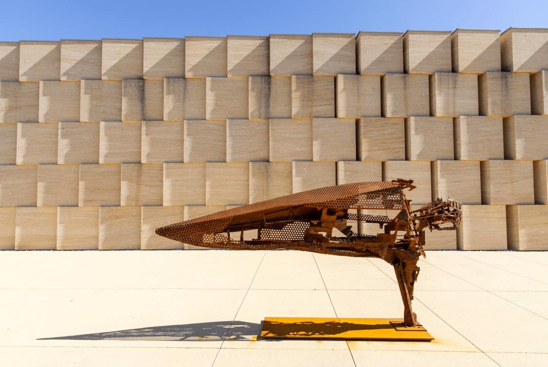 Sculpture en acier de Julien Allegre - Equilibre Illusoire