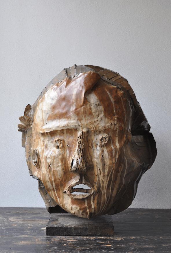 Sculpture bronze de Julien Allegre - Zakir 7.8 - face