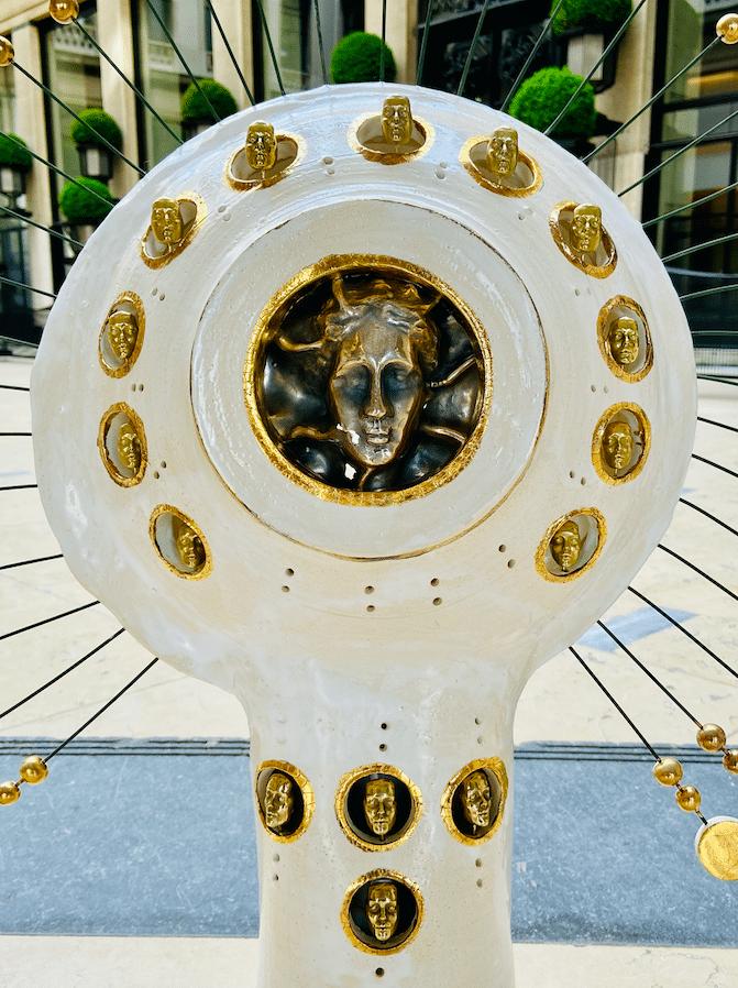 Lampe Soleil Georges Pelletier - Tournaire Paris or et argent.