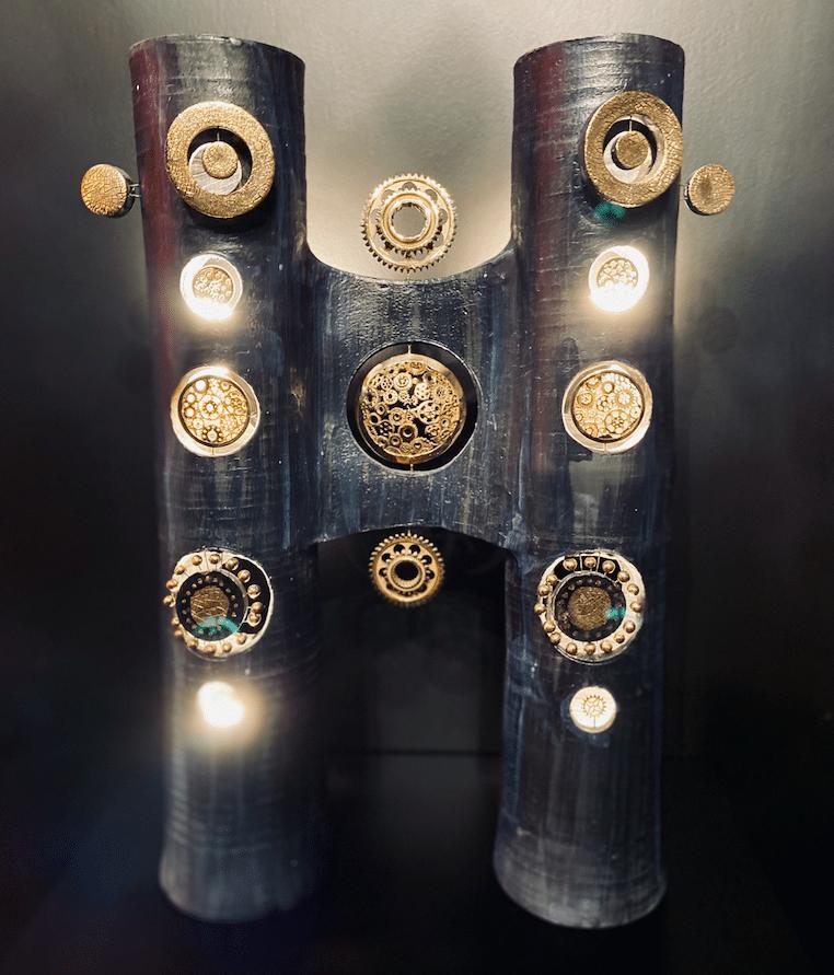 Luminaire double colonne Georges Pelletier & Tournaire