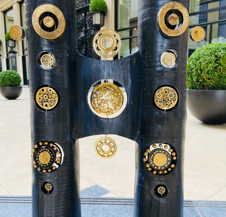 Luminaire double colonne Georges Pelletier & Tournaire Place Vendôme