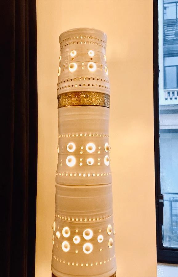 Bas reliefs en bronze du lampadaire Totem Georges Pelletier & Tournaire Paris - pièce unique