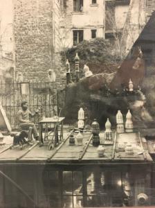 Georges Pelletier dans son atelier Parisien dans années 60