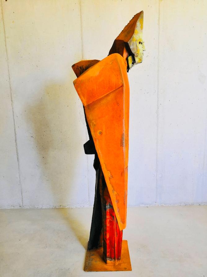Suculpture acier corten de Julien Allegre