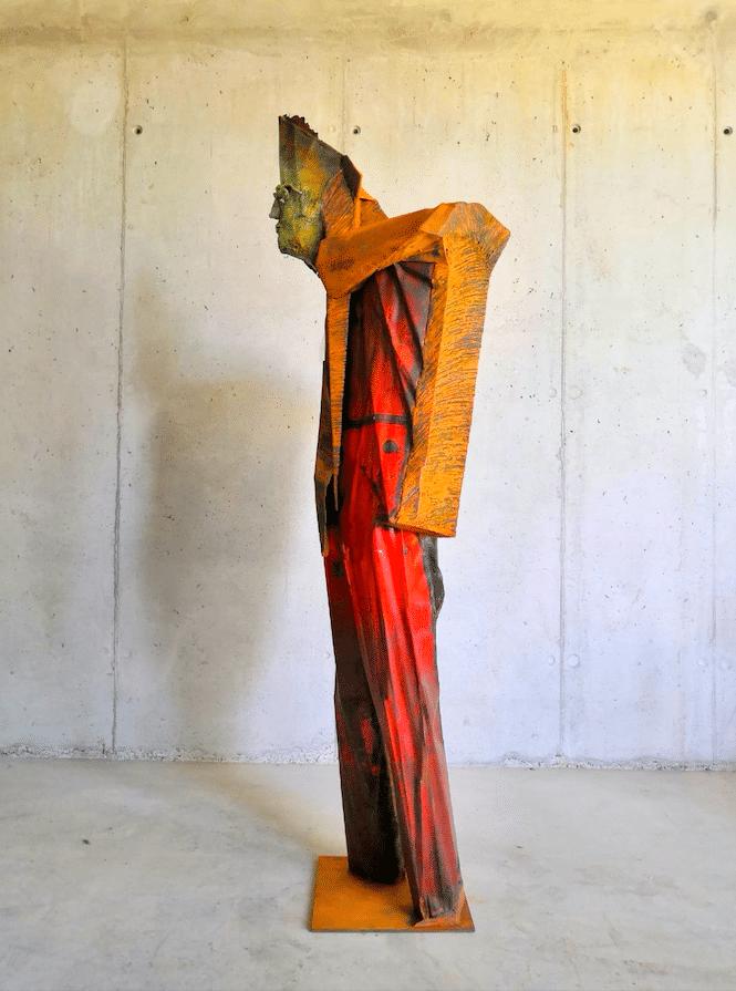 Transmutation - sculpture monumentale de Julien Allegre - profil gauche