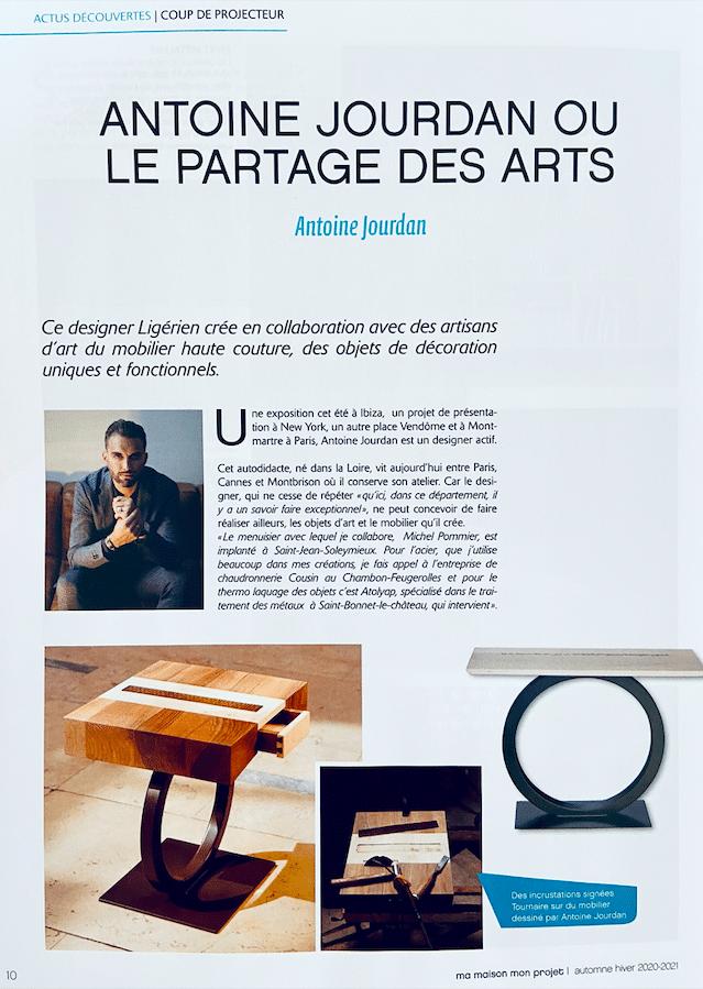 Article sur le designer Antoine Jourdan - Ma maison mon projet