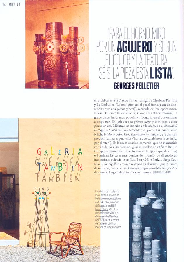 Article AD - Novembre 2020 Exposition à la Galeria Tambien Ibiza