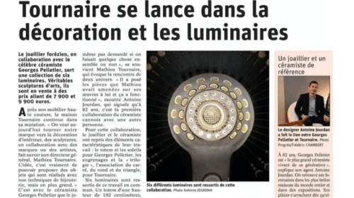 Article dans le journal Le Progrès Collaboration Georges Pelletier et Tournaire Paris